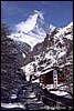 The Matterhorn in April from Zermatt - 132 KB