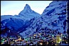 Zermatt winter evening  #CD2-79 - 96�KB