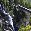 The Gornergrat train by a waterfall - 213 KB